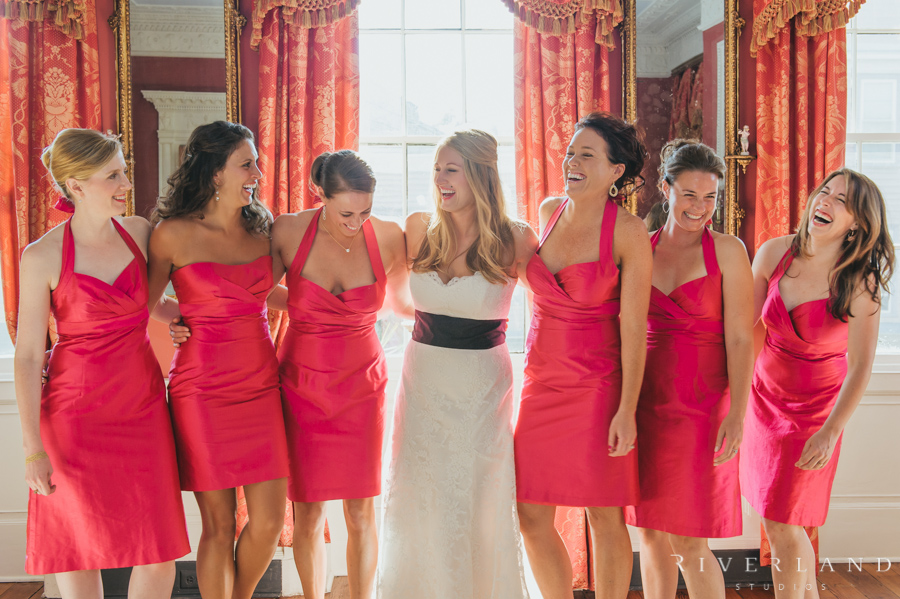 Bridesmaids in the William Aiken House