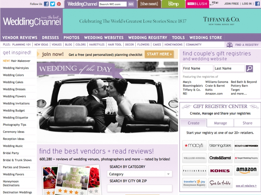 Wedding Channel's Wedding of the Day