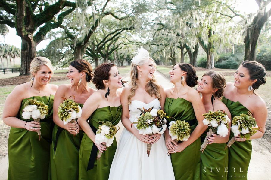 Long Green Bridesmaids Dresses