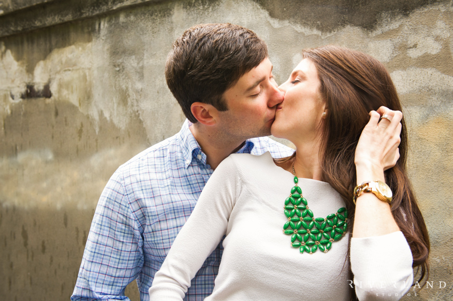 Kissing Engagement Picture