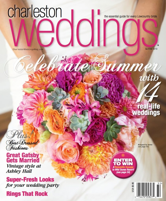 Congratulations to Kitty Wong and Charles Alston!  A Tanis J Events' 1 July 2012 Wedding Featured in Charleston Weddings Magazine Summer 2013.