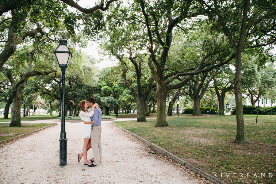 White Point Gardens Charleston engagement