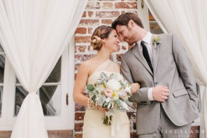 Downtown Charleston Wedding Day Bride and Groom