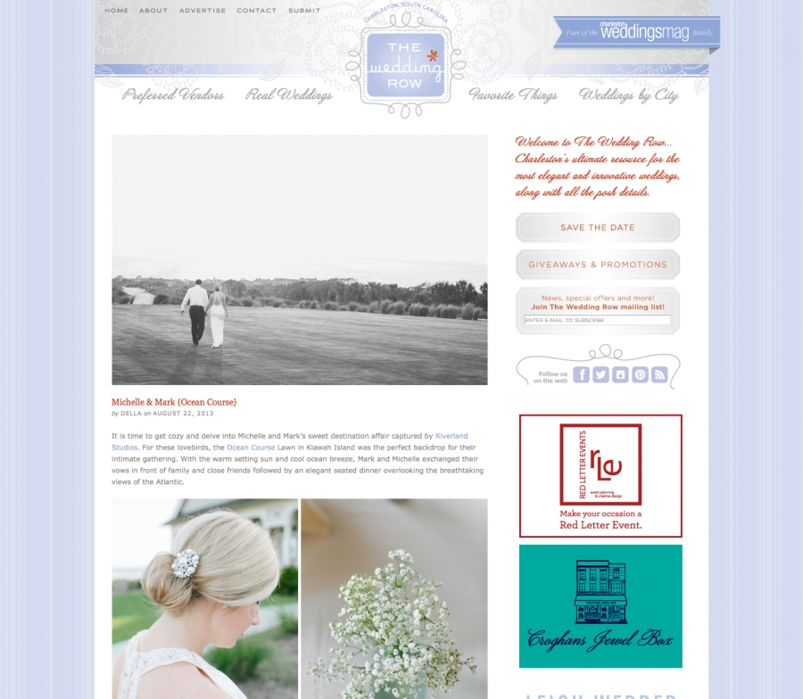 Featured on the Wedding Row