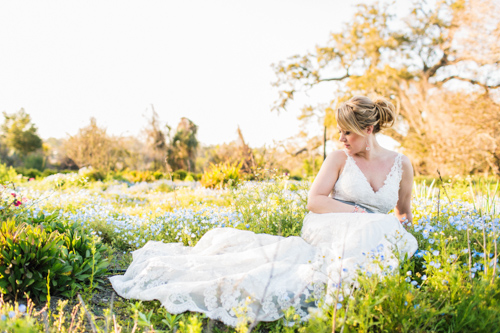 Bride Laying in Field