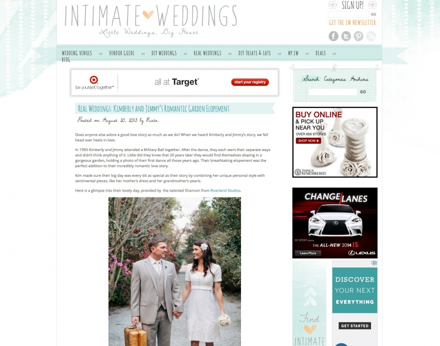 Featured on Intimate Weddings