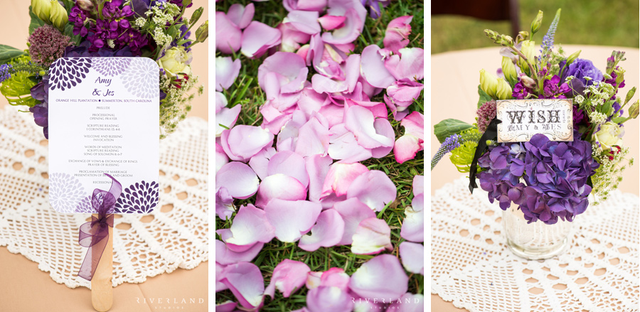 Purple and Green Wedding Details