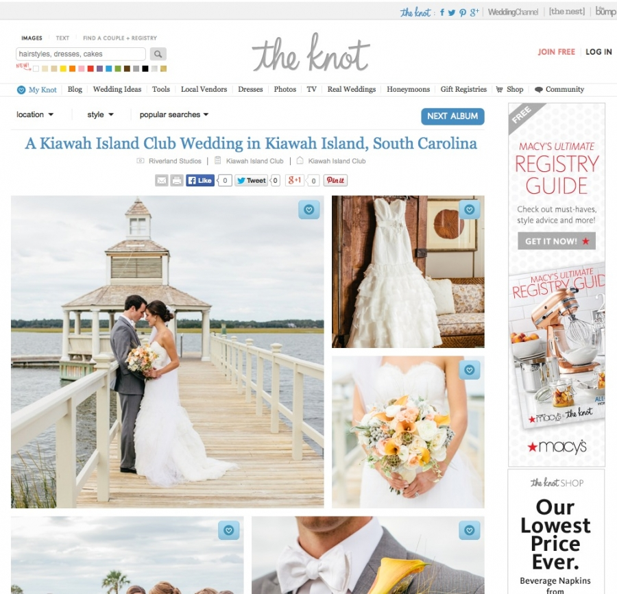 Kiawah Island Wedding on The Knot