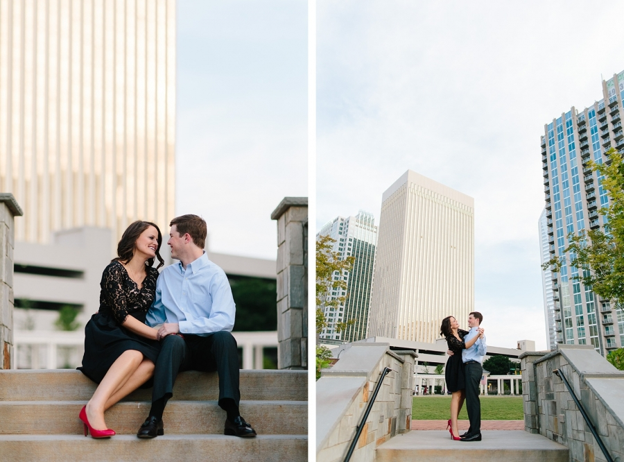 Downtown Charlotte Engagement