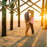 Folly Beach Engagement Portrait