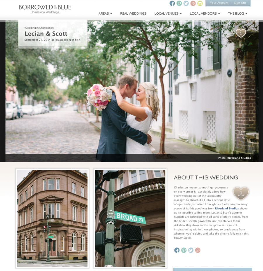 Charleston Wedding Borrowed and Blue