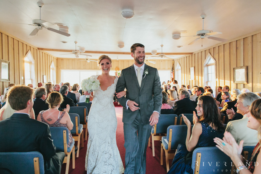 Pawleys Island Saying The Vows Exiting Chapel